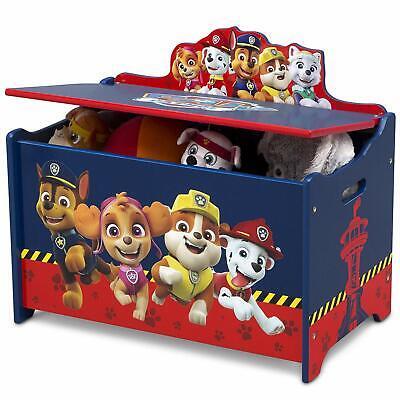 Paw Patrol Toy Box Kids Bedroom Furniture Room Organizer Chest Bin Chase Marshal
