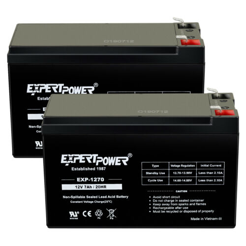 2 Pack ExpertPower 12V 7AH BATTERY FOR RAZOR E200 & E300S ELECTRIC SCOOTER