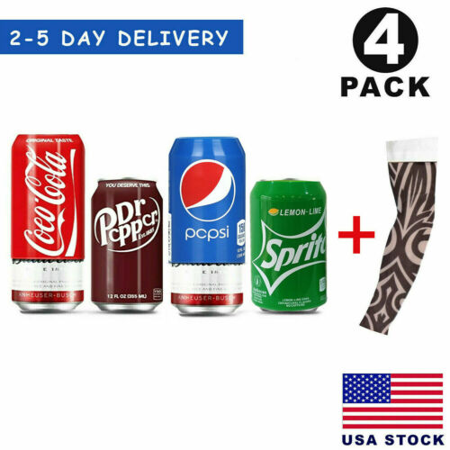 Silicone Beer Can Covers Hide A Beer Soda Can Sleeve 350ml Anti Slip - 4 Pack