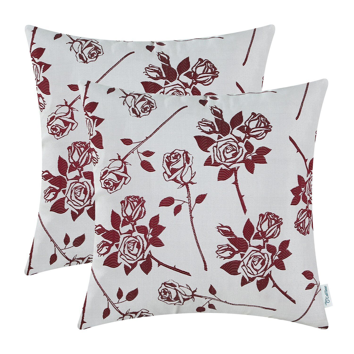 Pack of 2, CaliTime Cushion Covers Throw Pillow Cases 18 X 1