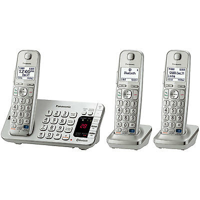 Panasonic Link2Cell Bluetooth Enabled Phone w/Answer 3 Handset + Keypad on Base