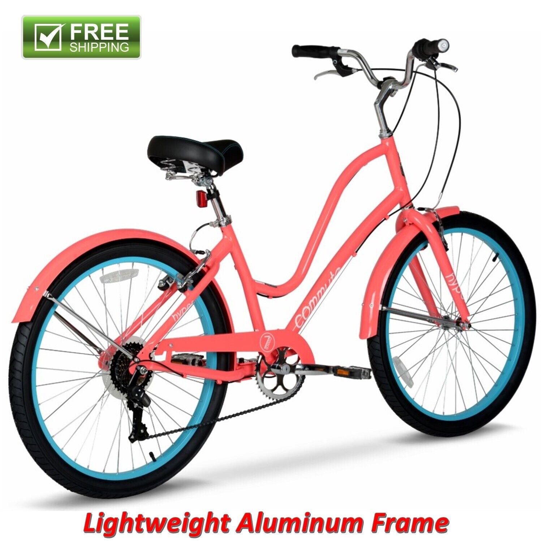 26 inch Hyper Commute Ladies Comfort Bike with 7-Speed Shima