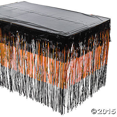 Halloween Fringe Tableskirt 9 ft. x 28
