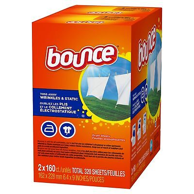 Bounce Fabric Softener Dryer Sheet Outdoor Fresh 320 ct Sheets