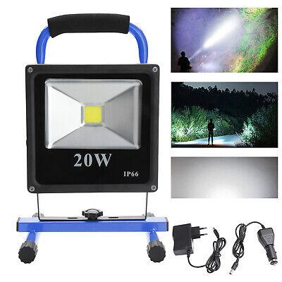 20W LED AKKU Strahler Arbeitsleuchte Baustrahler Handlampe Fluter Scheinwerfer (Akku-scheinwerfer)