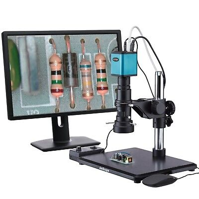 Industrial Inspection Zoom Monocular Microscope With Autofocus 1080p Hdmi Camera