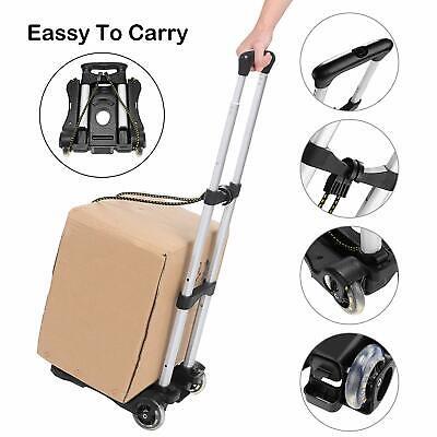 Coocheer Aluminum Folding Hand Trucks Portable Luggage Cart Travel Hand Truck