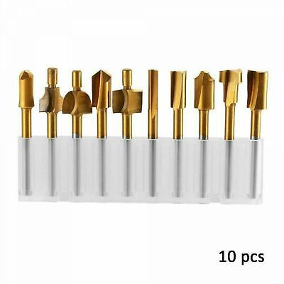 10PCS Wood Carving Tools Cutter Dremel Rotary Engraving Drilling DIY Accessories