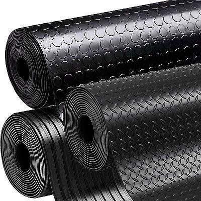 Rubber Flooring Garage Sheeting Matting Rolls 1m 1 2m And