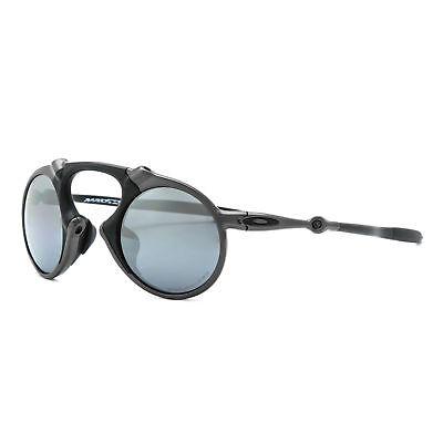 New Oakley Madman Sunglasses OO6019-02 Pewter / Black Iridium Polarized