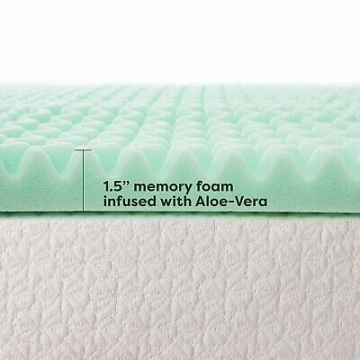 Best Price Mattress Twin XL Mattress Topper - 1.5 Inch Gel Memory Foam