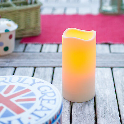 15cm Battery Operated Outdoor LED Candle Garden Patio Light With 6 Hour Timer