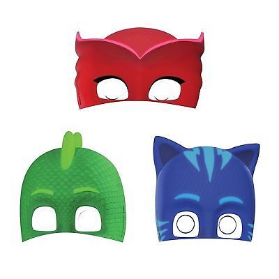 PJ Masks Pajama Heroes Paper Masks Boys Birthday Party Supplies Favors ~ 8ct. - Boys Birthday Supplies