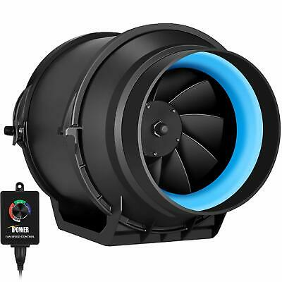 iPower 4/6/8 Inch Inline Duct Fan Variable Speed Controller HVAC Blower Kit