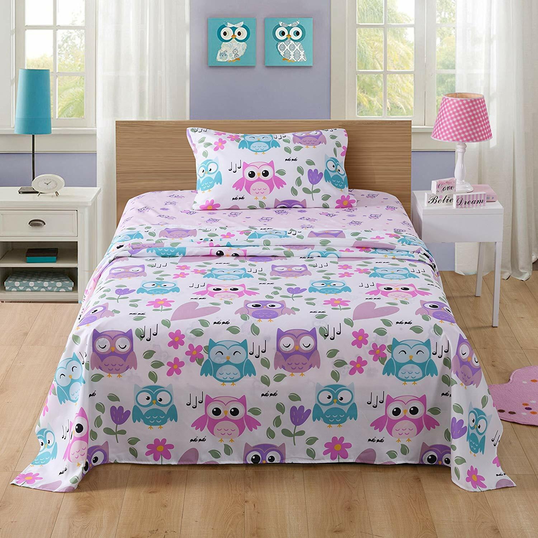 Bed Sheets for Kids Girls Boys Teens Children Beds Set, A32
