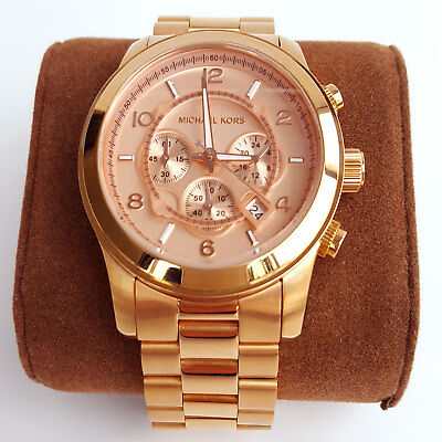 Michael Kors Armbanduhr Damen-Herren Chronograph Edelstahl Rose Gold NEU OVP
