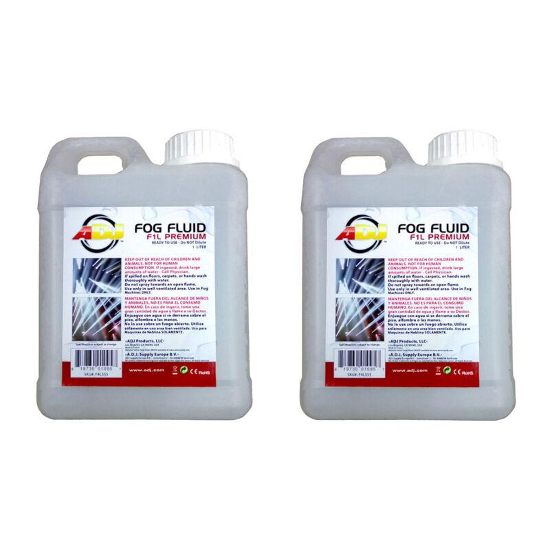 ADJ Products F1L Premium 1 Liter Water Based DJ Fog Machine Fog Fluid (2 Pack)