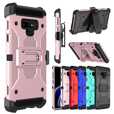 Belt Clip Holster Case (Hybrid Belt Clip Holster With Stand Hard Phone Case for Samsung Galaxy Note 9/8 )
