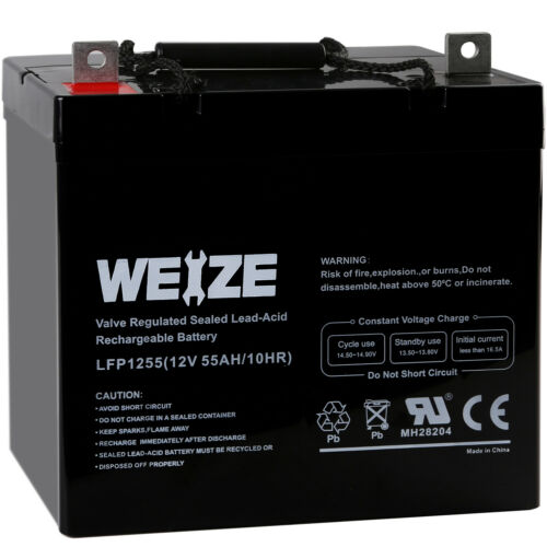 12V 55AH Rechargeable Deep Cycle AGM Battery For Scooter Whe