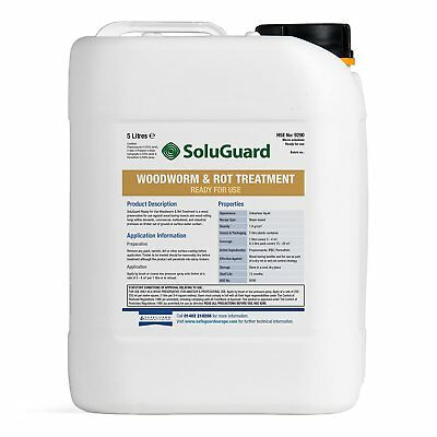Soluguard Woodworm & Rot Treatment Ready to Use. 5 Ltr