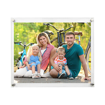 Document Frame Acrylic Sign Holder  - Wall Mount - 11x14 - Mounted Sign Holder