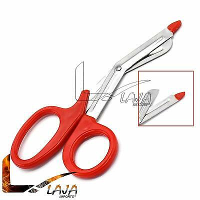 Red Emt Trauma Paramedic Bandage Shears Ems Scissors 7.5 With Probe