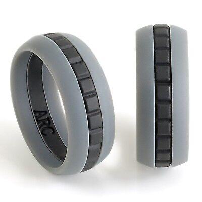 Mens Silicone Wedding Ring Band Size 10 Athletes Workout