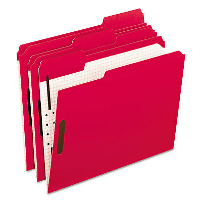 Pendaflex Colored Folders With Embossed Fasteners 13 Cut Letter Redgrid