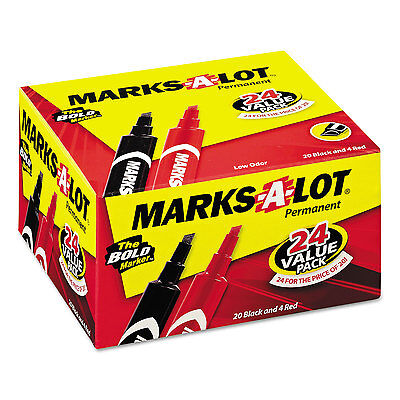 Avery Marks-a-lot Regular Desk-style Permanent Marker Chisel Tip Black 24pack
