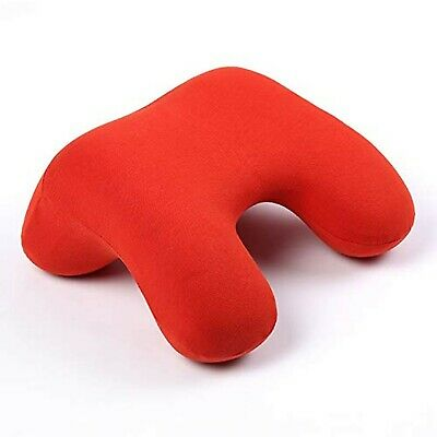 Arched Reversible Memory Foam Travel Pillow in Scarlet Red