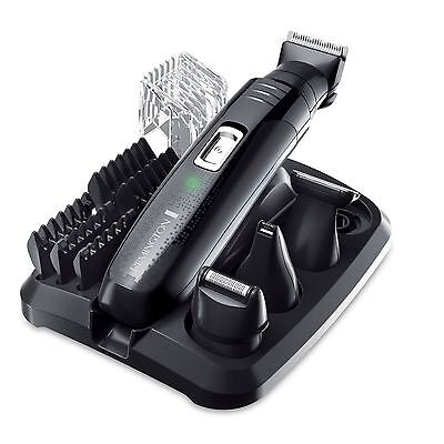 Remington Rechargeable Mens Grooming Kit Body Hair Clipper Beard Trimmer Shaver