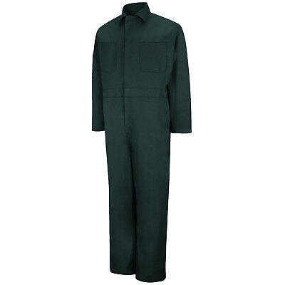 Red Kap Men's Twill Long Sleeve Work Coveralls, Spruce Green
