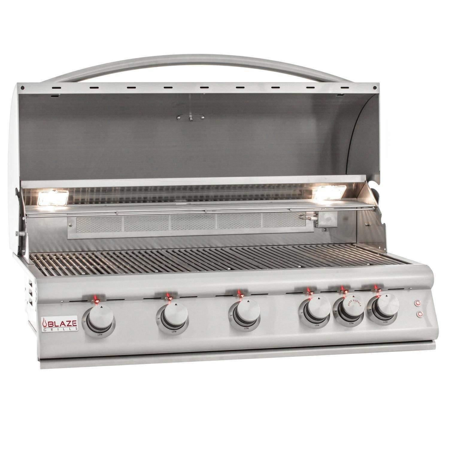 Blaze LTE 40-Inch 5-Burner Built-In Natural Gas Grill With R