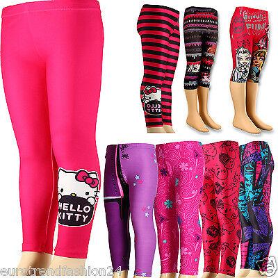 Kinder Disney Leggings Stretch Hose Mädchen Violetta Hello Kitty Monster High (Disney Monster High)
