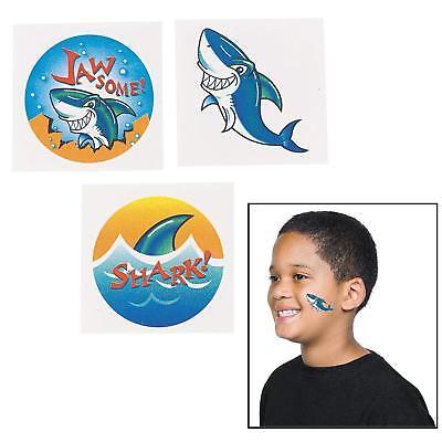 Shark Tattoos  (72 Pack)  1 1/2