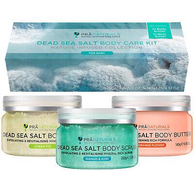 PraNaturals Dead Sea Body Care Kit Exfoliating Scrub & Moisturising Body Butter