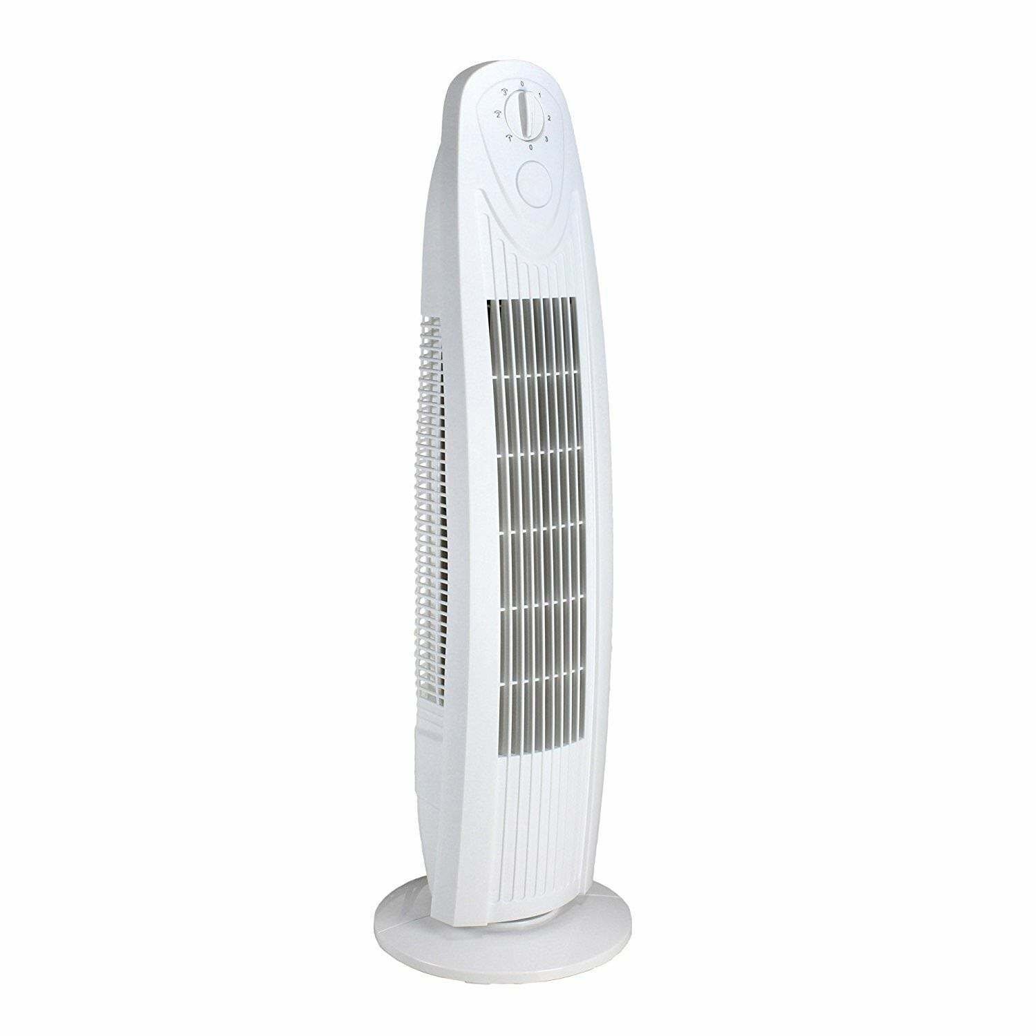 Oscillating 29 Inch 3 Speed Tower Fan for Home or Office, Qu