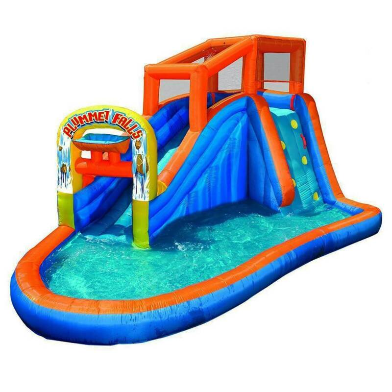 Plummet Falls Adventure Kids Inflatable Outdoor Water Park Pool Slide US