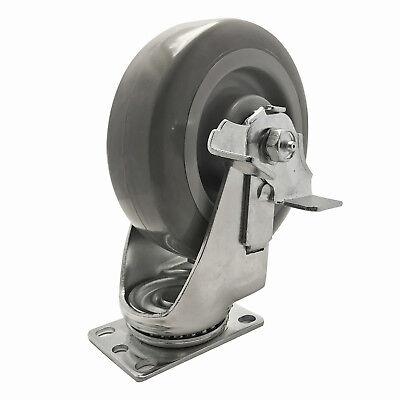 Caster 6 Inch Super-duty Polyurethane Swivel-brake 450 Lb