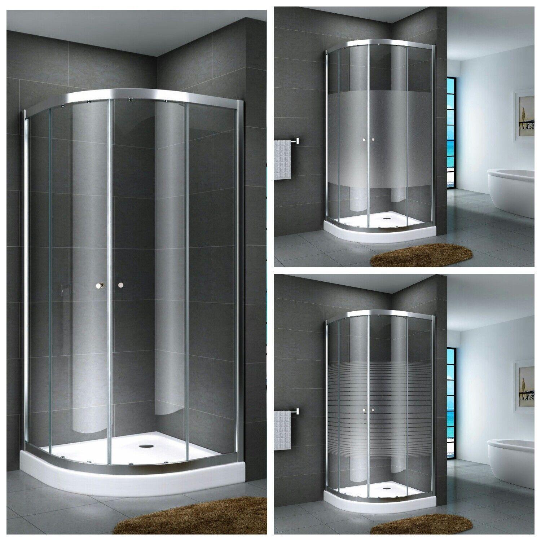 80x80 90x90cm duschabtrennung viertelkreis runddusche. Black Bedroom Furniture Sets. Home Design Ideas