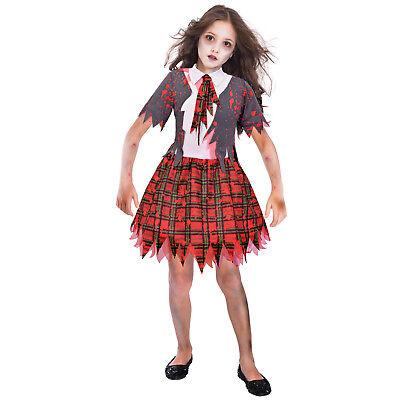 ★ Amscan Halloween Zombie Schulmädchen Schoolgirl Kinder Kostüm , Schule 110-152