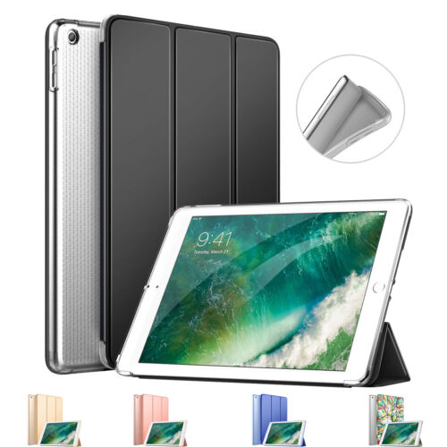 MoKo Smart Trifold Stand Case w/ Translucent Back Cover for