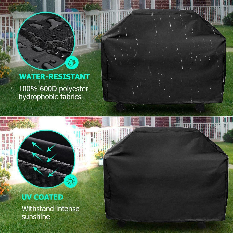 Wasserdicht BBQ Gasgrill Abdeckung Grill Abdeckhaube Schutzhülle Regenschutz DE