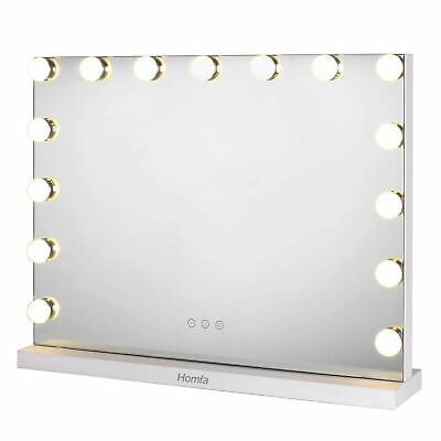 15x LED Hollywood Make-up Table Mirror Vanity Lighted Cosmetic 3 Dimmable Bulbs