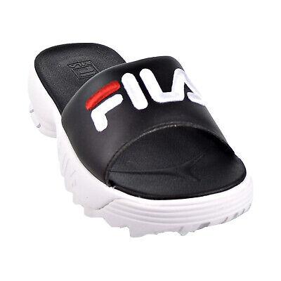 Fila Disruptor Bold Women's Slides Black-White-Red 5SM00079-014