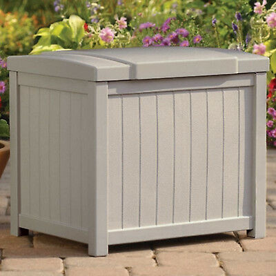 Patio Storage Box Outdoor Garden Furniture Resin Deck Bin Pool Yard Container