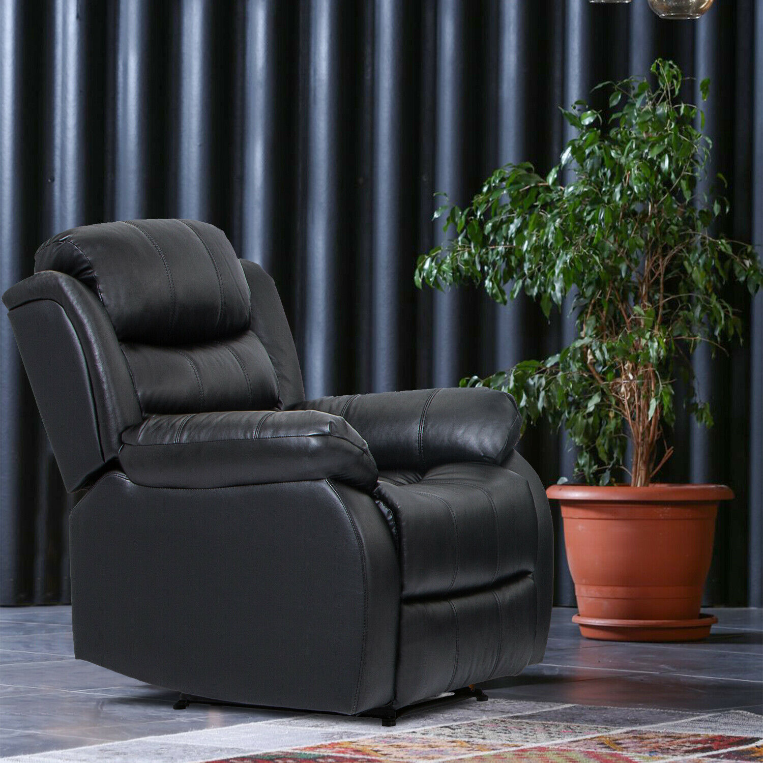 Recliner Chair Reclining  Sofa Couch Sofa Leather Home Theater Seating Manual Furniture