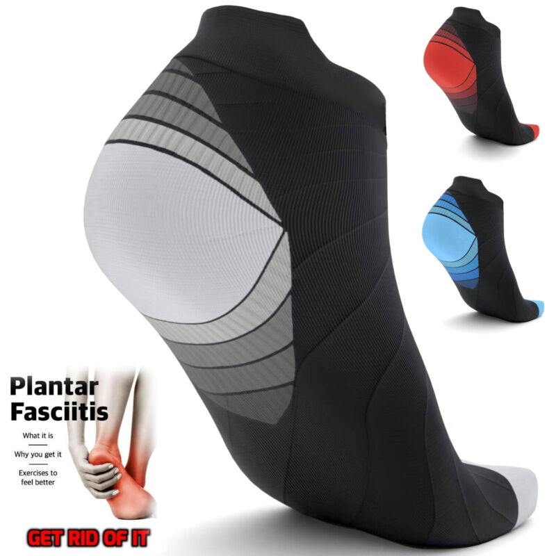 Ankle Sleeve Compression Socks Support Arch Heel PLANTAR FAS