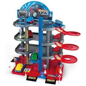 Parkgarage Parkhaus mit 4 Ebenen Autogarage Autos Spielzeug Tankstelle Garage