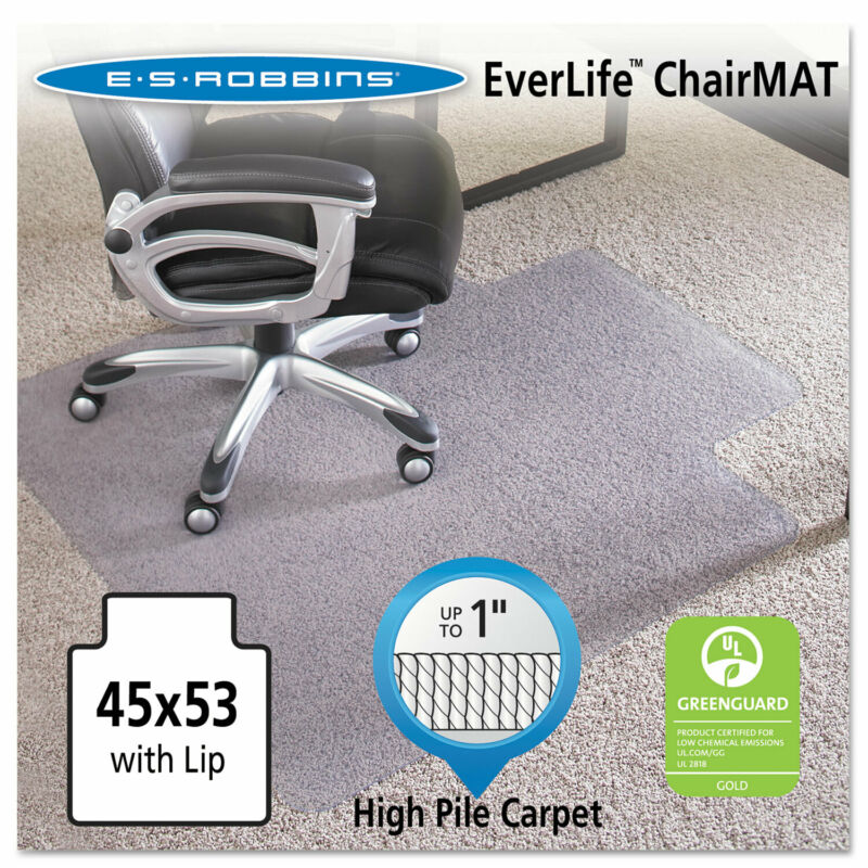 "Es Robbins 45x53 Lip Chair Mat Performance Series AnchorBar for Carpet up to 1"""